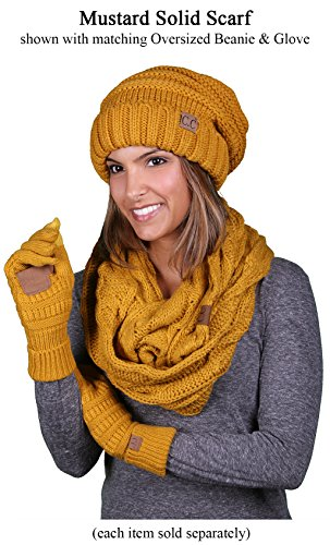 S1-6100-72 Funky Junque Infinity Scarf - Mustard (Solid) by Funky Junque (Image #2)