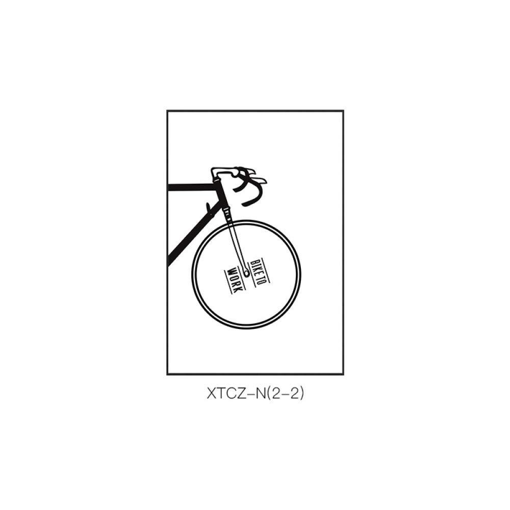 DEE Pintura Decorativa Europea Simple Moderna de la Bicicleta Blanco y Negro, Dormitorio Creativo Exquisito Blanco y Negro de la Sala de Estar del Estilo con la Pintura del Marco,A,50  70
