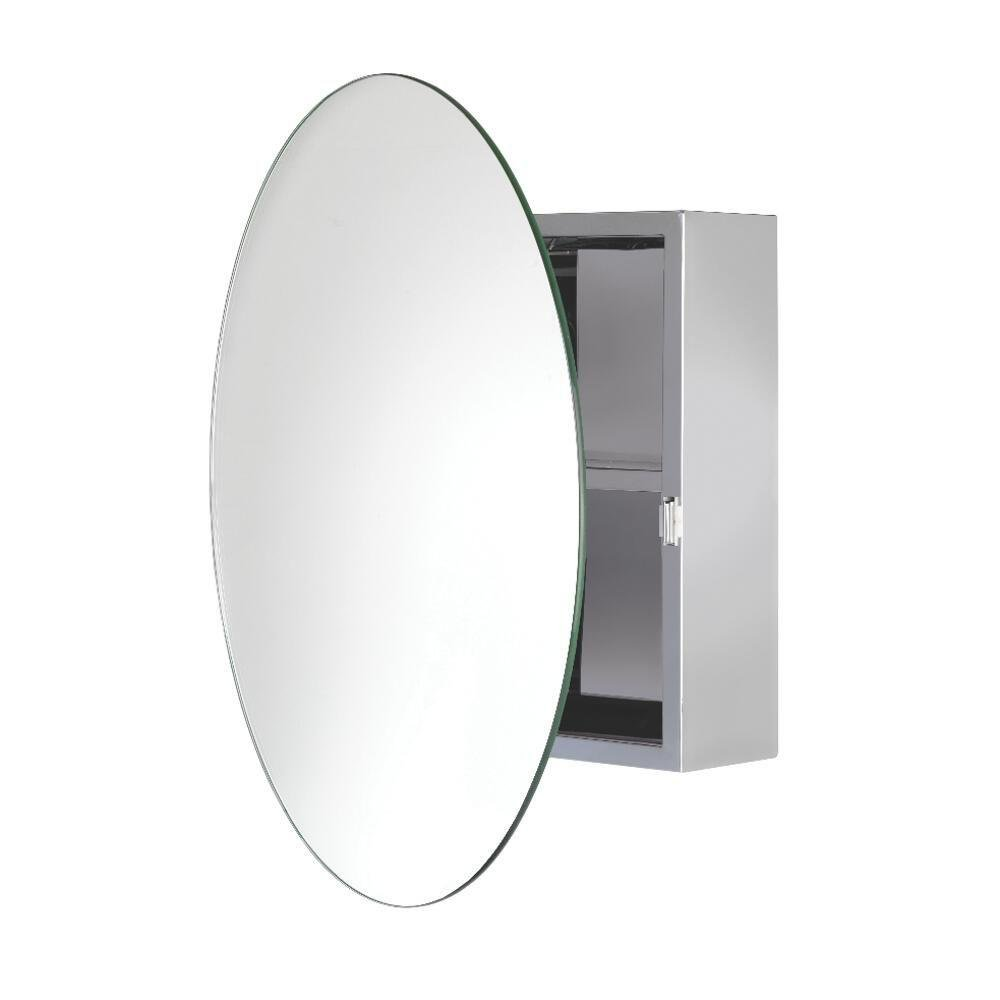 Croydex Severn 21-1/2 in. W x 21-1/2 in. H x 4-3/10 in. D Frameless Stainless Steel Surface-Mount Bathroom Medicine Cabinet