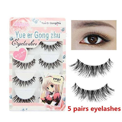 Yezijin Big sale! 5 Pair/Lot Crisscross False Eyelashes Lashes Voluminous HOT eye lashes