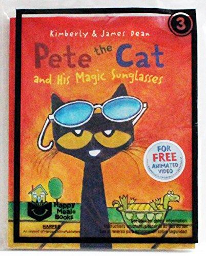 Pete the Cat and His Magic Sunglasses, McDonalds Happy Meal Book - The Cat Magic Sunglasses Pete