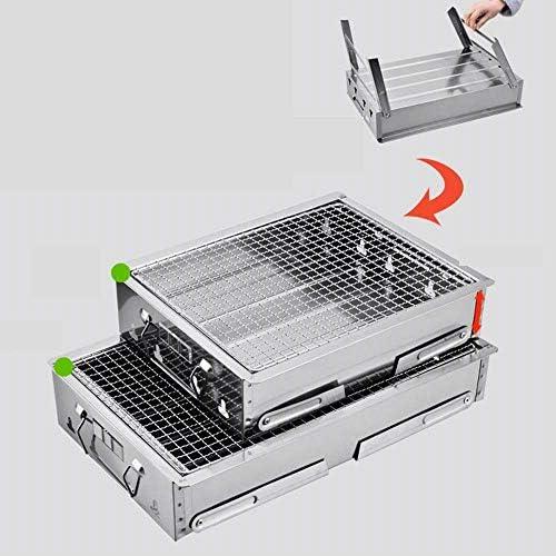 Barbecue En Acier Inoxydable Extérieur Pliable Portable 1-5 Personnes Convient Pour Le Camping De Voyage De Pique-Nique Camping Multi-taille En Option
