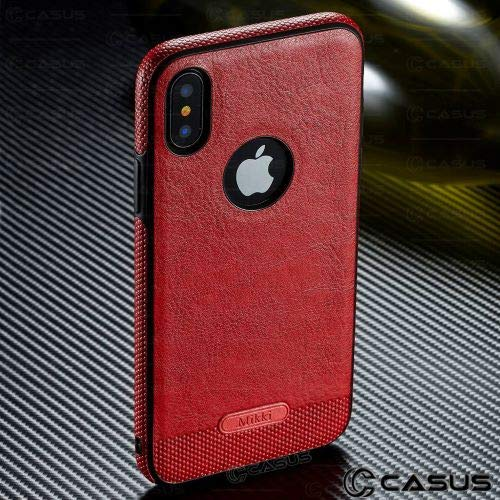 - GOOGEE Fitted Cases - for iPhone Xs Max Xr Case Slim Luxury Leather Back Ultra Thin Case Cover for iPhone X 8 7 Plus 6 6s Case - for iPhone XR_Red - Extra Waterproof Motorcycle Branding Cell