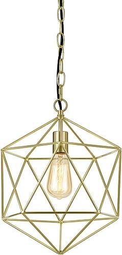 AF Lighting Elements Bellini 1-Light Modern Brushed Gold Mini Chandelier