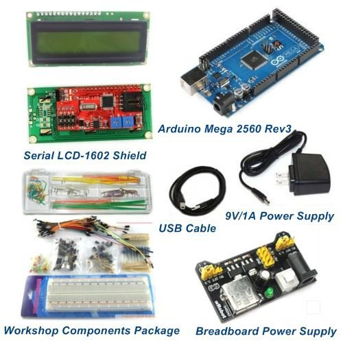 Mega 2560 Rev3 Starter Package Kits With LCD1602 Shield for Arduino Compatible by Aigh Auality shop