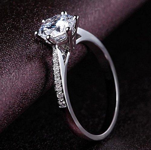 maledery Dreamlike Fashion Jewelry 925 Sterling Silver Crystal Diamond Engagement Rings for Women Size 4-12