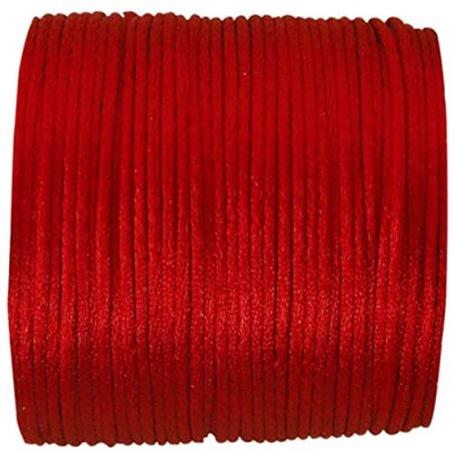 RP RIBBON Red Rattail Polyester cord 2mm x 10m