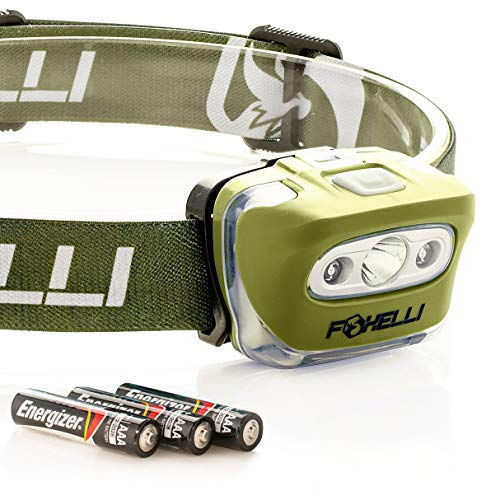 Foxelli Headlamp Flashlight Super