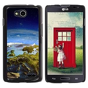 Be Good Phone Accessory // Dura Cáscara cubierta Protectora Caso Carcasa Funda de Protección para LG OPTIMUS L90 / D415 // Earth Panorama Landscape View Space Europe