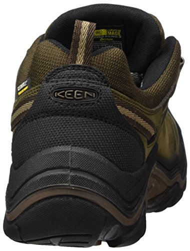 Keen Men's Wanderer Waterproof Low Rise Hiking Shoes Brown (Cascade Brown/Dark Earth 0) e1fXxeC