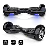 CHO 6.5' inch Wheels Original Electric Smart Self Balancing Scooter Hoverboard With Built-In Bluetooth Speaker- UL2272 Certified (BLACK)