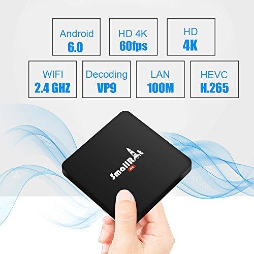 TV Box, SMALLRT X2 2GB RAM Android 6.0 Box Quad Core Smart TV Box Built-in Wifi Supports 4K UHD Entertainment