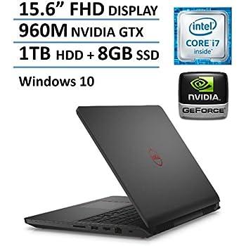 "Dell Inspiron 15 7559 15.6"" FHD Gaming Laptop PC, Intel i7-6700HQ Quad Core Processor, 16GB RAM, 1TB HDD+8GB SSD, NVIDIA GeForce GTX 960M 4GB GDDR5, Backlit Keyboard, Windows 10"
