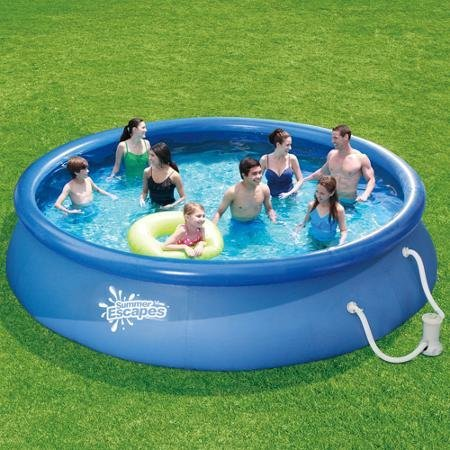 Summer Escapes 15' Quick Set Above Ground Ring Pool with Pump with GFCI