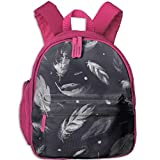 Watercolor Feathers Boys Girls Durable Book Bag For School