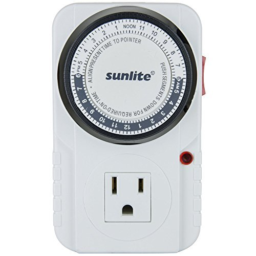 Sunlite 05003-SU T200 24 Hour Heavy Duty Appliance Timer - 2 Pack by Sunlite