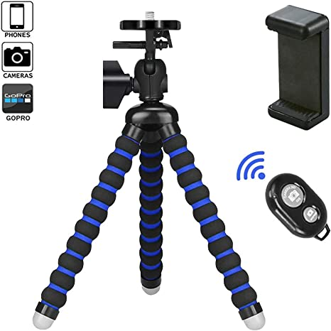 VIUME Móvil Trípode, Flexible Tripode Smartphone Rotación 360° con ...