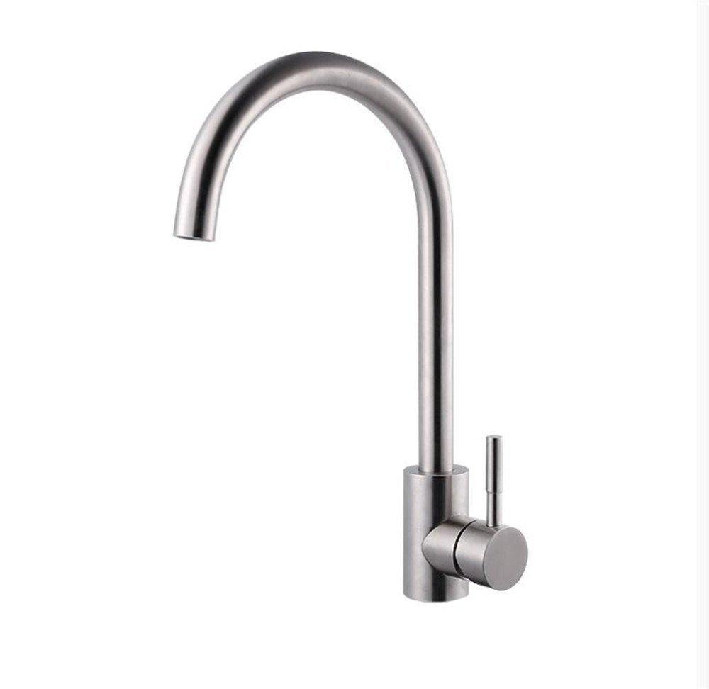 Decorry 304 Edelstahl Sink Hahnmischgemäße Becken Mit Heißen Und Kalten Taps Kupfer Küchenarmatur Keramikventilkern