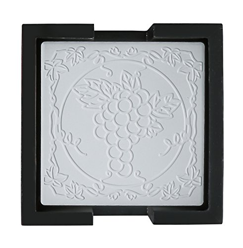 Thirstystone AG9605-HA44 AM Embossed Grapes Coaster Set, Multicolor ()