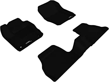 L1FR02911509 Black 3D MAXpider Front Row Custom Fit All-Weather Floor Mat for Select Ford Focus Models Kagu Rubber