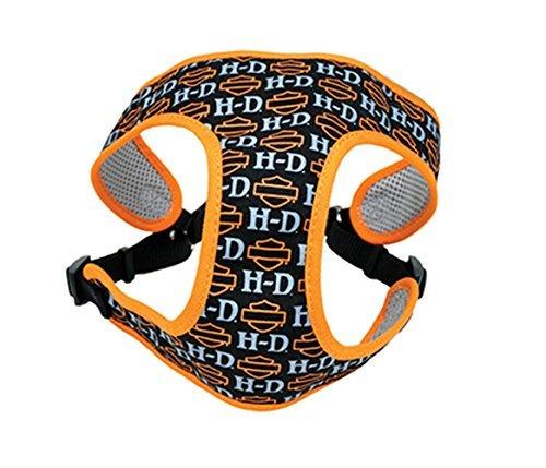 Harley-Davidson HD with B&S Fashion Mesh Orange Pet Harness -XS