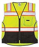 ML Kishigo - Black Series Black Bottom Class 2 Safety Vest, Size: X-Large, Color: Lime