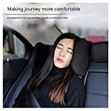 Prom-near Car Neck Pillow Car Seat Headrest Neck Support For Car Seat Headrest High Elastic Car Seat Headrest Neck Pillow (Black)