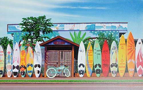 [해외]하와이안 잡화 인테리어 캔버스 판넬 그림 (마우이파이 아타 총장) 하와이 잡화 / Hawaiian Goods Interior Canvas Panel Painting (MauiPaia Town) Hawaii Goods