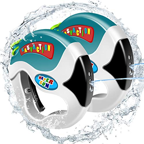 BABCOO Water gun for kids Soaker Squirt Games - Easy to Catch, Durable Shooting, Long Range and Lovely Shape, Water Pistol Toy for Party Favors and Outdoor Activity Watergun Game in Hot Summer, 2 Pack