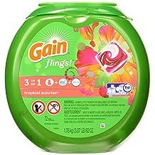 Gain Laundry Detergent Packs, Tropical Sunrise Scent, 72 Count