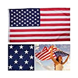 The Best American USA Flag- Top Quality United States Flag- Premium 3X5 American Flag- Durable Oxford Fabric With Embroidered Stars & Sewn Stripes – Best Weatherproof USA Flag For Outdoors & Indoors Review