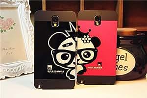 Galaxy S4 Case,Cartoon Lovely Panda Back Case Cover for Samsung Galaxy S4 I9500,1 piece,Black