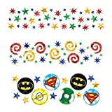 Amscan Boys Adventure Filled Justice League Birthday Party Value Confetti Decoration (Pack of 1), Multicolor, 1.2 oz