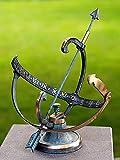 pompidu-living Sonnenuhr, Bronzeguss H 25cm