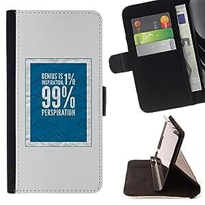 BullDog Case - FOR/Apple Iphone 6 / - / 1 percent 99 rich social justice blue /- Monedero de cuero de la PU Llevar cubierta de la caja con el ID Credit Card Slots Flip funda de cuer