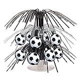 Beistle Soccer Ball Cascade Centerpiece, 71/2-Inch, Black/Silver/White (Value 3-Pack)