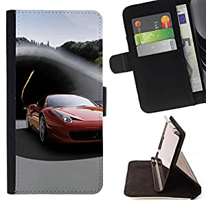 BullDog Case - FOR/Sony Xperia Z1 L39 / - / ITALIAN SUPERCAR /- Monedero de cuero de la PU Llevar cubierta de la caja con el ID Credit Card Slots Flip funda de cuer