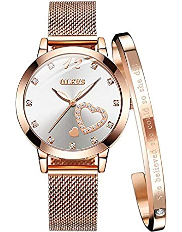 84b61deb3c8 Woman Watch Rose Gold Watch Fashion Watches for Women Waterproof Creative  Milanese Wristband Steel Strap Black