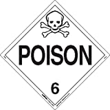 Labelmaster Z-PL5 Poison Hazmat Placard, Worded, Tagboard (Pack of 25)
