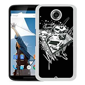 Popular Nexus 6 Case,Supergirl White Google Nexus 6 Screen Phone Case Unique and Custom Design
