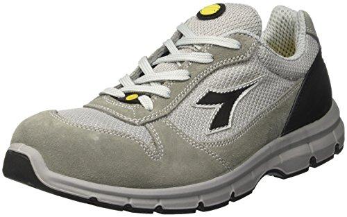 Diadora Run Textile Esd Low S1p, Zapatos de Trabajo Unisex Adulto, Grigio Castello/Alluminio Gris (Grigio Castello/grigio Alluminio)