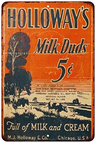 holloways-milk-duds-5-vintage-look-reproduction-metal-sign-8x12-8122361