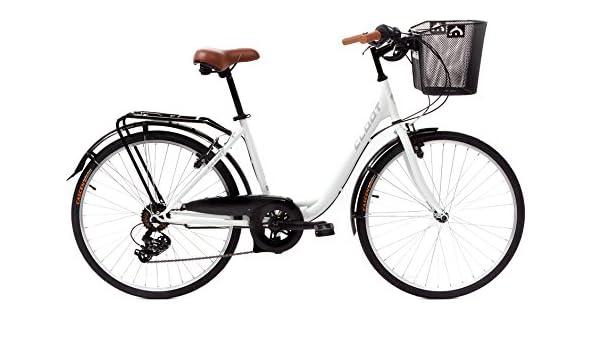 CLOOT Bicis de Paseo Relax Blanca-Bicicleta Paseo con Cambio Shimano 6V: Amazon.es: Deportes y aire libre