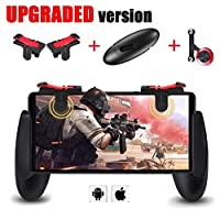 Mobile Game Controller [Upgrade Version] - WeeDee Fortnite PUBG Mobile Controller with Gaming Trigger,Gaming Grip and Gaming Joysticks for 4.5-6.5inch Android iOS Phone