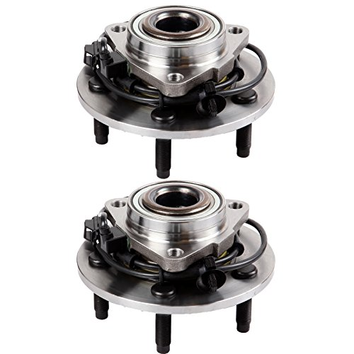 SCITOO Compatible with Both(2) 515073 New Complete Front Wheel Hub Bearing fit 2002-2006 Dodge RAM 1500 5 Lugs W/ABS