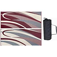 Mings Mark GC5 Burgundy/Black 8 x 20 Graphic Reversible Mat by Mings Mark
