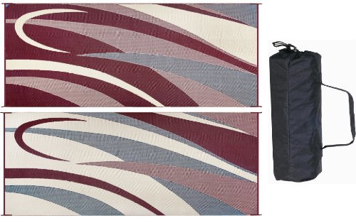 Ming's Mark GC5 Burgundy/Black 8' x 20' Graphic Reversible Mat by Ming's Mark
