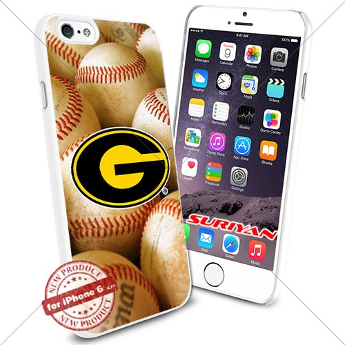 New iPhone 6 Case Grambling State Tigers Logo NCAA #1164 White Smartphone Case Cover Collector TPU Rubber [BaseBall]