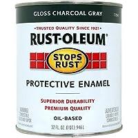 Rust-Oleum 7784502 Stops Rust, 32 oz. Quart, Gloss Charcoal Gray by Rust-Oleum