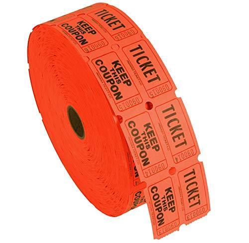 Kangaroo's Double Raffle Ticket Roll (Orange)